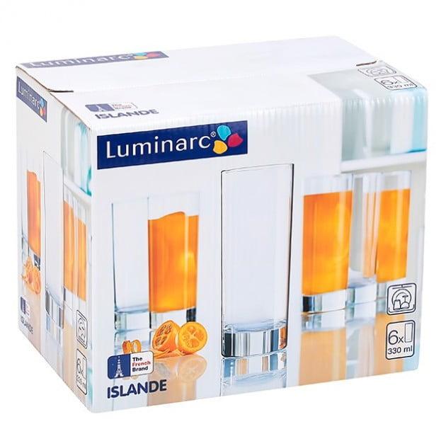 Набор стаканов Luminarc Islande 330 мл J0040 лучшая цена в Украине