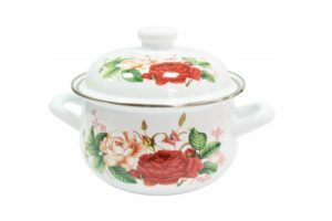 Кастрюля 1,95 л эмалированная IL Primo Roses IP-030905-18