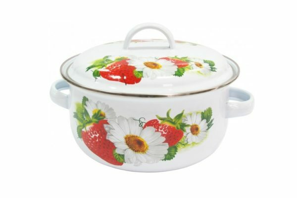 Кастрюля IL Primo эмалированная Strawberry 1,61 л IP-030904-18
