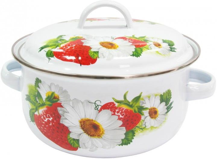 Кастрюля IL Primo эмалированная Strawberry 1,61 л IP-030904-18 купить недорого онлайн