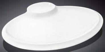 Блюдо овальное Wilmax из фарфора 25,5 см WL-992629 купить недорого онлайн