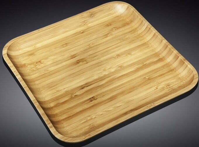 Блюдо бамбуковое Wilmax Bamboo 33x33 см WL-771026 купить недорого онлайн
