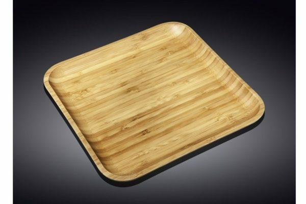 Блюдо бамбуковое Wilmax Bamboo 33x33 см WL-771026