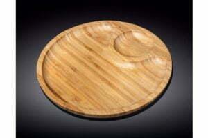 Блюдо на две секции бамбуковое Wilmax Bamboo 25 см WL-771043