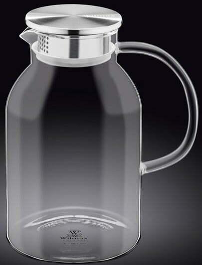 Кувшин стеклянный Wilmax с металлической крышкой 2,1 л WL-888214 / A купить недорого онлайн