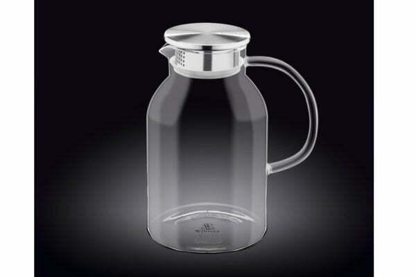 Кувшин стеклянный Wilmax с металлической крышкой 2,1 л WL-888214 / A