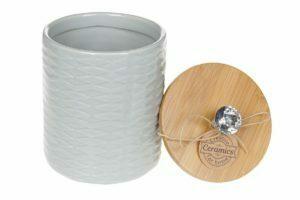 Банка керамическая Алмаз с бамбуковой крышкой 600 мл