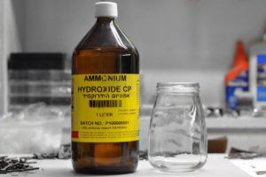 Нашатырный спирт для чистки нержавейки