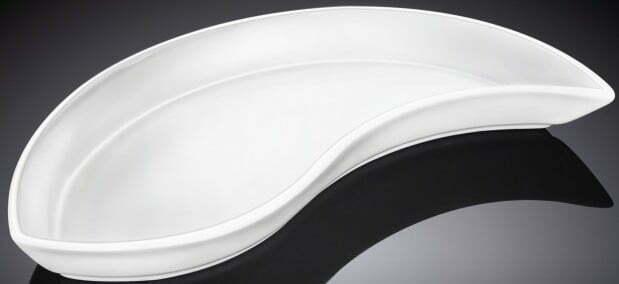 Блюдо глубокое из фарфора Wilmax 23х12 см WL-992700 купить недорого онлайн