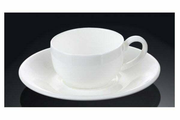 Чашка кофейная и блюдце Wilmax фарфор 100 мл