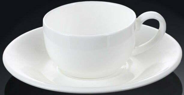 Чашка кофейная и блюдце Wilmax фарфор 100 мл WL-993002 купить недорого онлайн