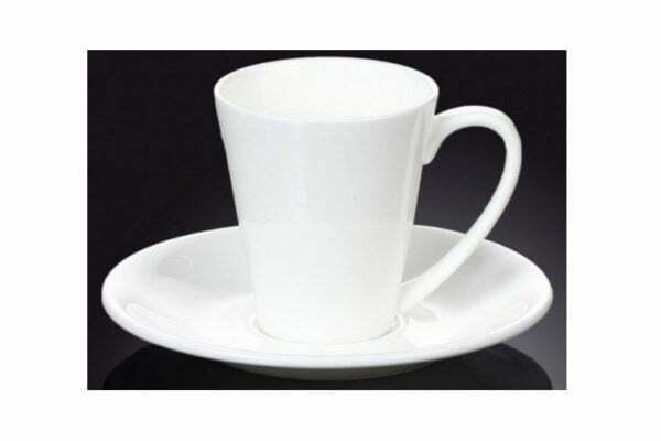 Чашка с блюдцем фарфоровая Wilmax 160 мл