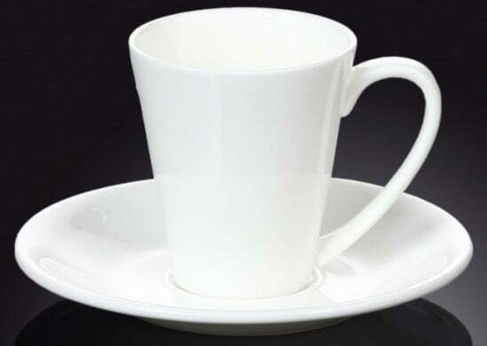 Чашка с блюдцем фарфоровая Wilmax 160 мл WL-993005 купить недорого онлайн