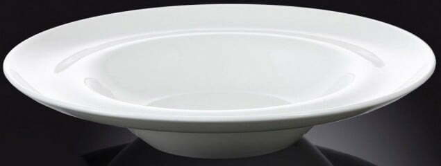 Тарелка Wilmax фарфоровая глубокая 400 мл WL-991023 купить недорого онлайн