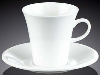 Чашка чайная Wilmax и блюдце из фарфора 210 мл WL-993109 купить недорого онлайн