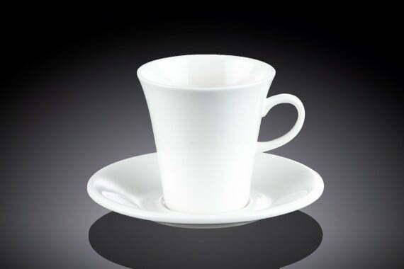 Чашка чайная Wilmax и блюдце из фарфора 210 мл WL-993109