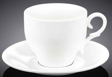 Чайная чашка с блюдцем Wilmax 220 мл WL-993009 купить недорого онлайн