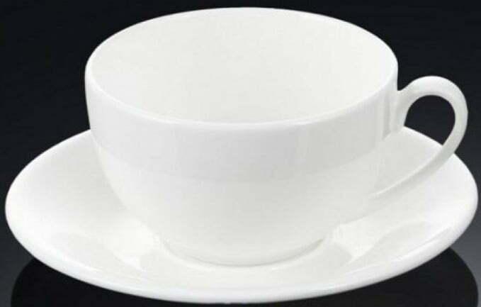 Чашка для капучино с блюдцем Wilmax 180 мл WL-993001 купить недорого онлайн