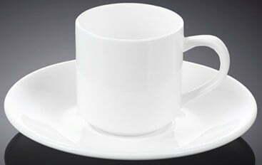 Кофейная чашка и блюдце Wilmax фарфор 90 мл WL-993007 купить недорого онлайн