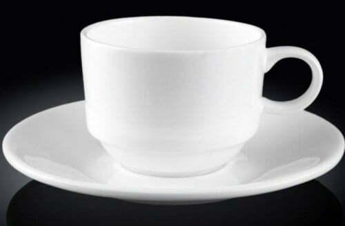 Чашка 140 мл кофейная и блюдце фарфор Wilmax WL-993039 купить недорого онлайн