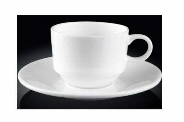 Чашка 140 мл кофейная и блюдце фарфор Wilmax WL-993039