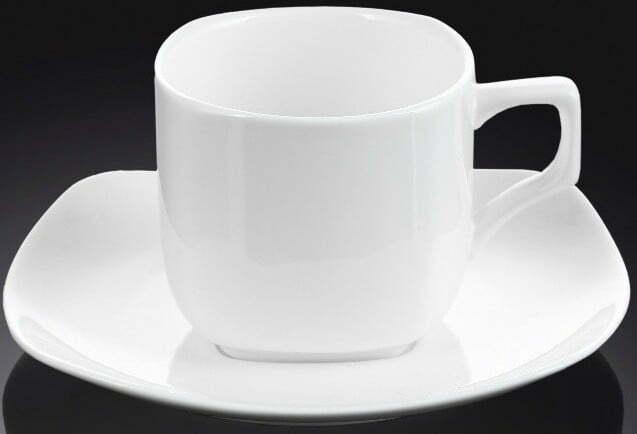 Чашка Wilmax кофейная и блюдце 90 мл фарфор WL-993041 купить недорого онлайн