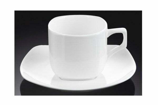 Чашка Wilmax кофейная и блюдце 90 мл фарфор WL-993041