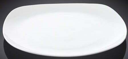 Тарелка квадратная Wilmax фарфоровая 16,5×16,5 см WL-991000 купить недорого онлайн