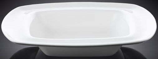 Тарелка Wilmax глубокая 22×22 см фарфоровая WL-991021 купить недорого онлайн