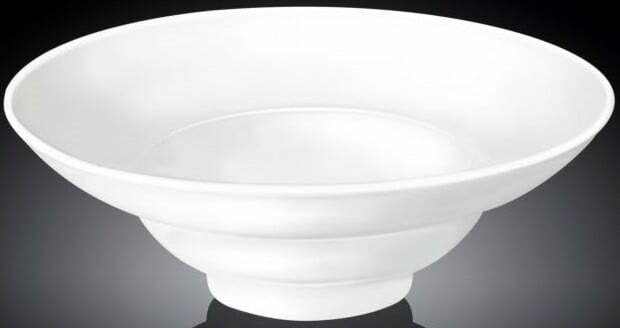 Тарелка для салата фарфоровая Wilmax 25 см WL-991272 купить недорого онлайн