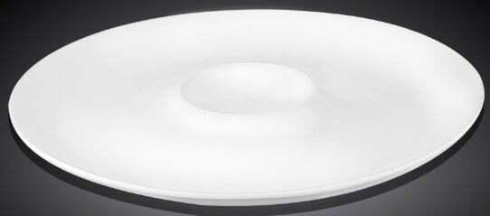Тарелка с углублением из фарфора Wilmax 28 см WL-992779/A купить недорого онлайн