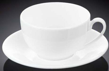 Чашка чайная с блюдцем Wilmax 250 мл WL-993000 купить недорого онлайн