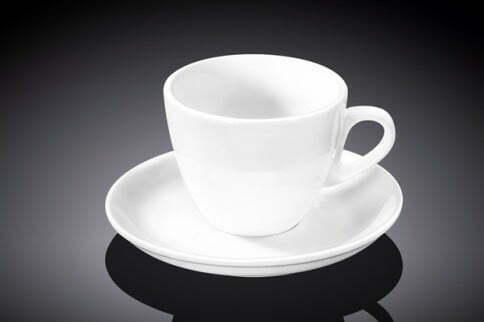 Чашка кофейная и блюдце Wilmax 75 мл купить недорого