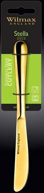 Нож десертный Wilmax Stella Gold 20,5 см WL-999154 / 1B купить в Харькове