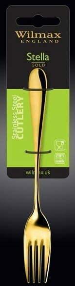 Набор десертных вилок Wilmax Stella Gold 19 см WL-999155 / 2B купить на сайте Биол шоп