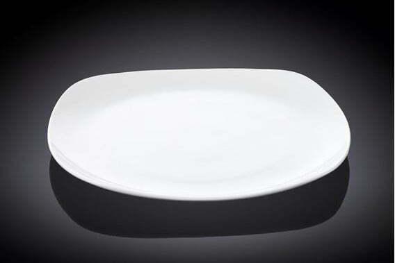 Тарелка квадратная Wilmax фарфоровая 16,5×16,5 см