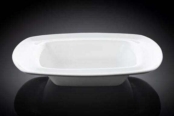 Тарелка Wilmax глубокая 22×22 см фарфоровая