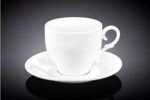 Чайная чашка с блюдцем Wilmax 220 мл низкая цена