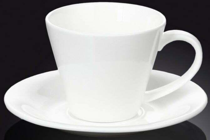 Чашка чайная фарфоровая с блюдцем Wilmax 180 мл WL-993004 купить недорого онлайн