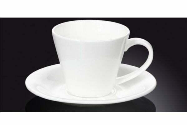 Чашка чайная фарфоровая с блюдцем Wilmax 180 мл WL-993004