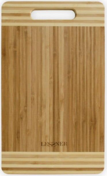 Кухонная доска бамбуковая 25х15х2 см Lessner 10301-25 купить недорого онлайн
