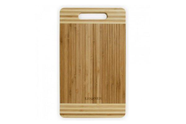 Кухонная доска бамбуковая 25х15х2 см Lessner 10301-25