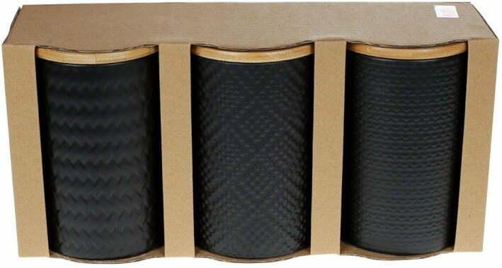 Набор керамических банок с крышками ВonaDi 800 мл 304-931 низкая цена
