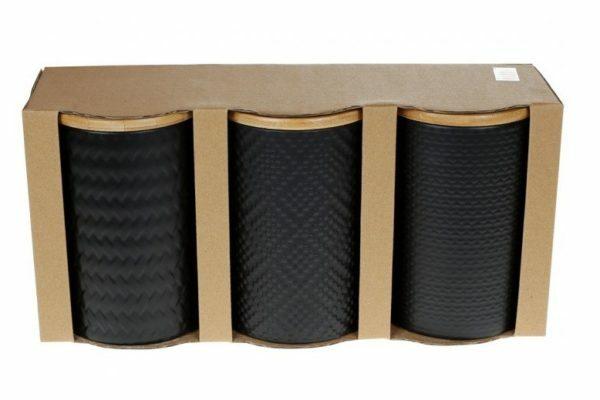 Набор керамических банок с крышками ВonaDi 800 мл