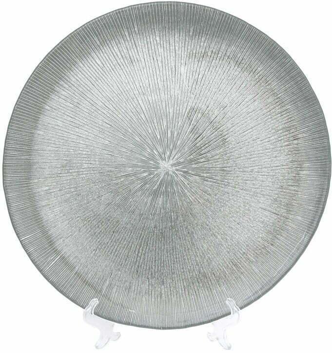Сервировочная тарелка стеклянная 33см BonaDi 587-007 купить недорого онлайн