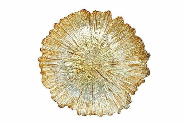 Стеклянная сервировочная тарелка BonaDi 33 см 587-011