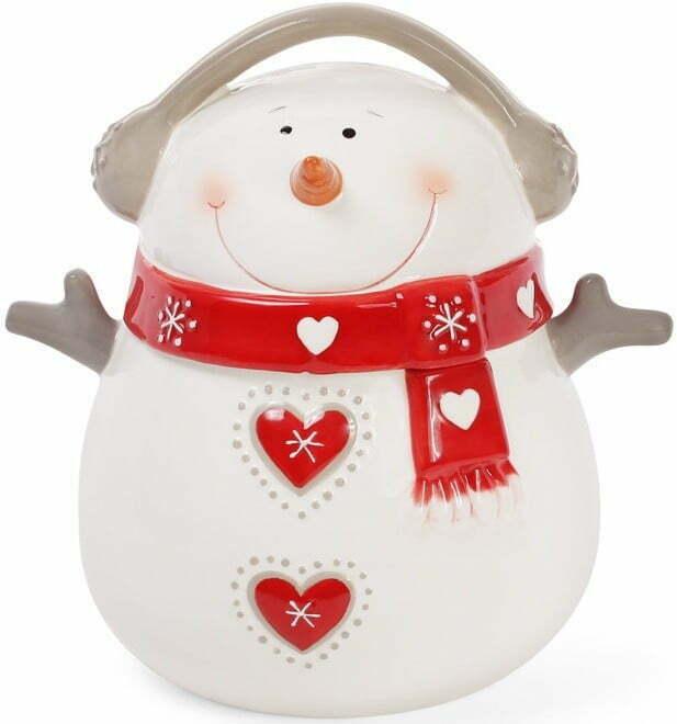 Банка керамическая с крышкой Снеговик BonaDi 950 мл 834-182 купить недорого онлайн