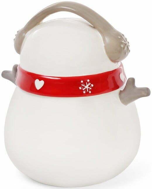 Банка керамическая с крышкой Снеговик BonaDi 950 мл 834-182 купить на сайте Биол шоп