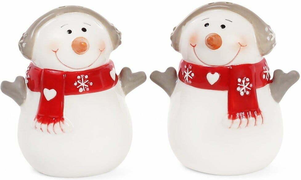 Набор для специй Снеговик солонка и перечница 7,7 см BonaDi 834-185 купить недорого онлайн