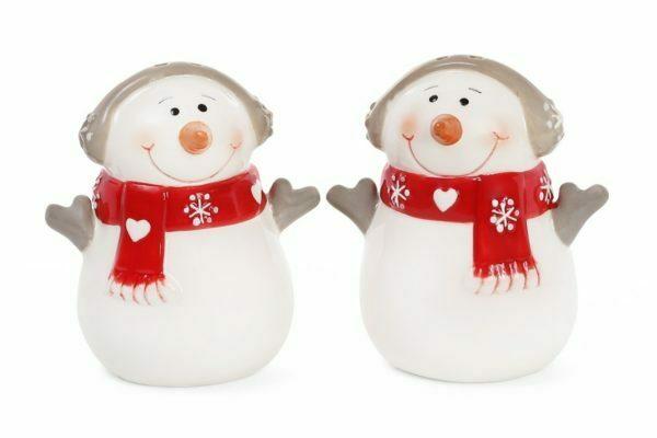 Набор для специй Снеговик солонка и перечница 7,7 см BonaDi 834-185